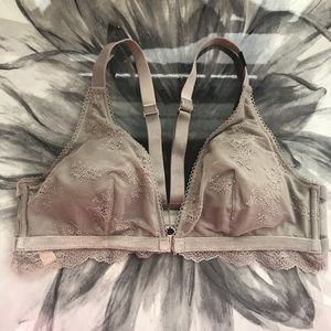 VS | Lace Taupe Padded Bralette Bra | New